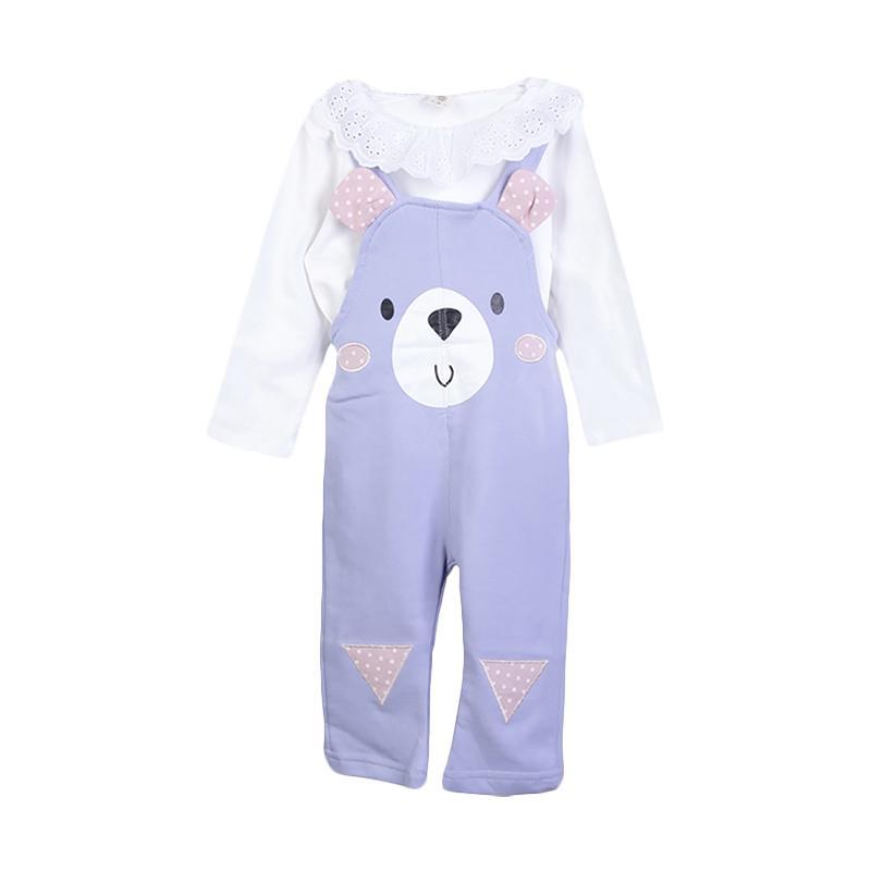 Chloe Babyshop F979 Setelan Wearpack Bear - Purple