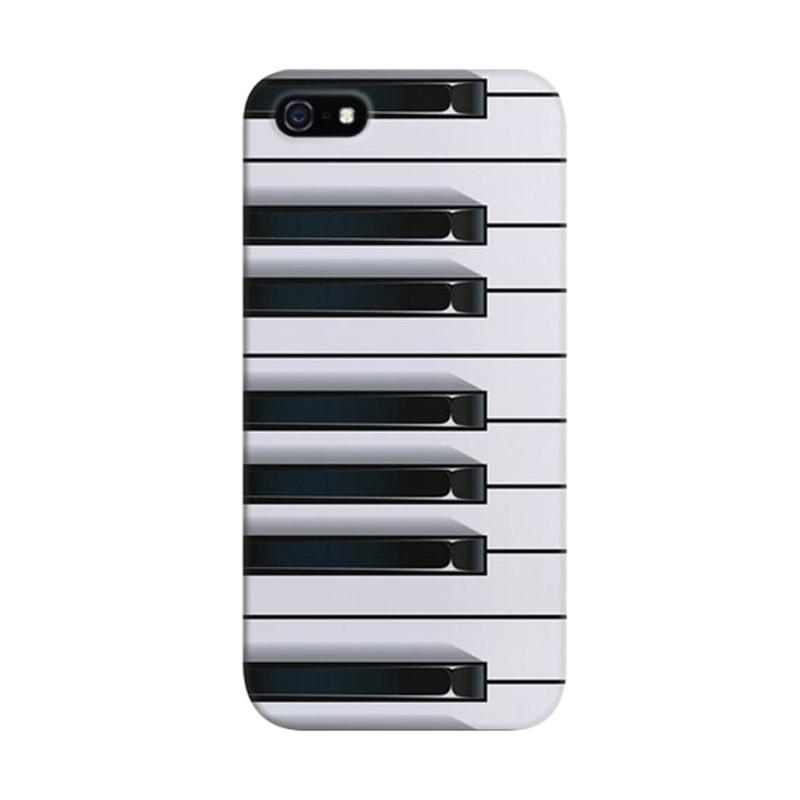 Indocustomcase Piano Custom Hardcase Casing for Apple iPhone 5/ 5S/ SE