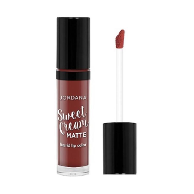 Jordana Sweet Cream Matte Lipstick - #21 Molten Chocolate