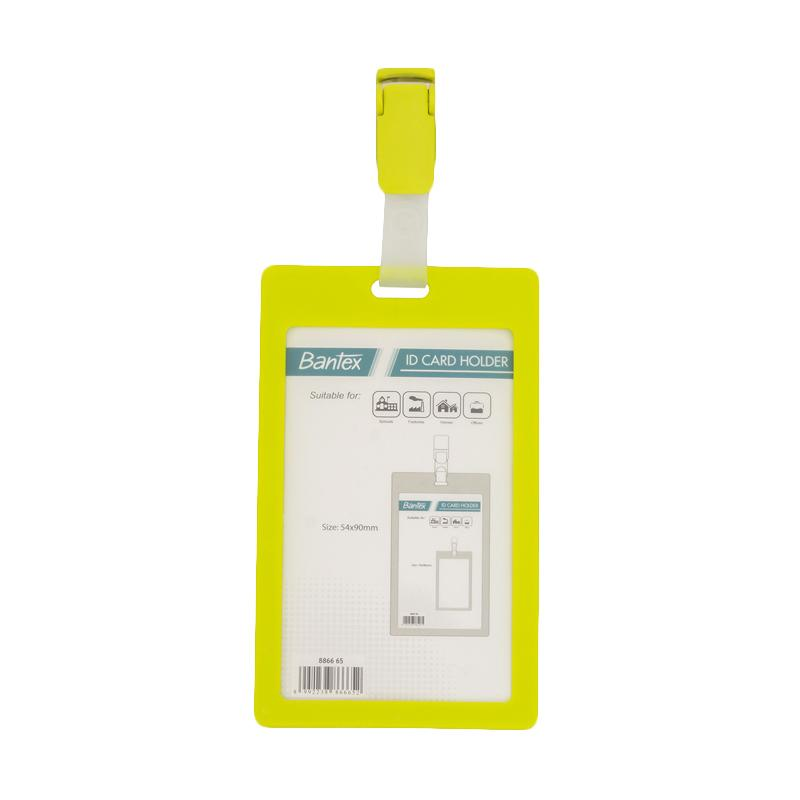 harga Bantex #8866 65 Portrait ID Card Holder with Clip - Lime [54 x 90 mm] [2 PCS] Blibli.com