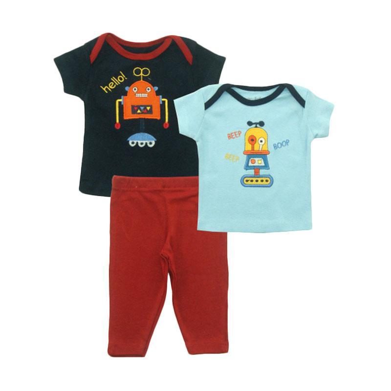 Bearhug Robot Hello Set Pakaian Bayi Laki-laki - Navy [3 Pcs]