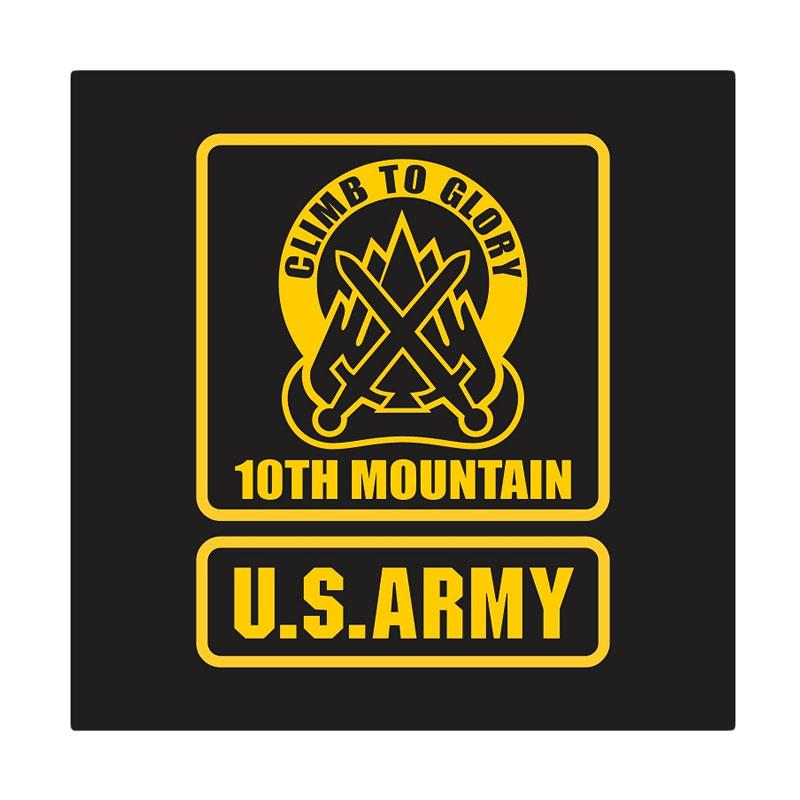 Kyle US Army 10th Mountain Climb To Glory Cutting Sticker