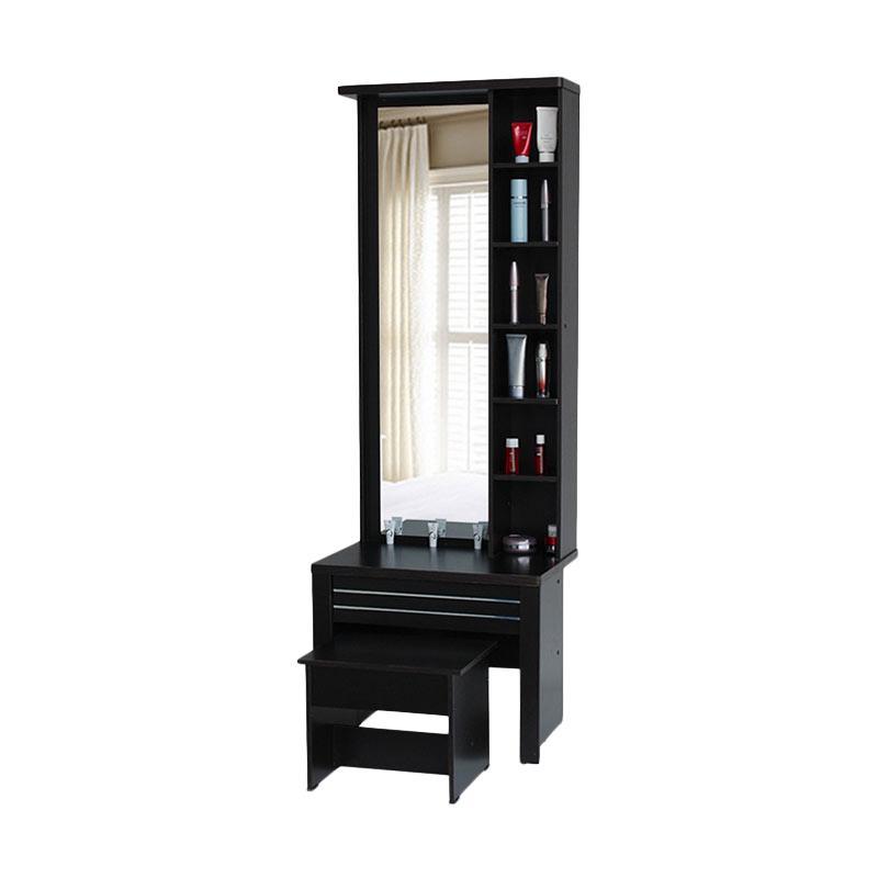 MD Furniture Meja Rias Cermin Panjang - Walnut