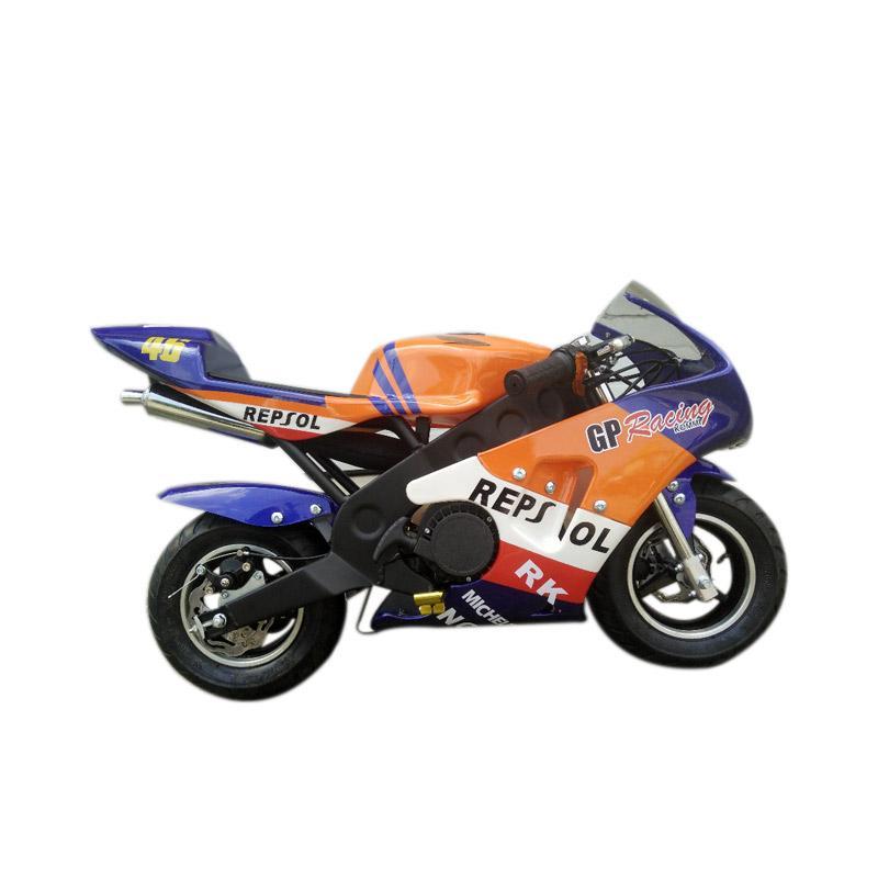 harga Mini Motor GP Racing-3 49 cc Sepeda Motor Mini - Orange Blibli.com