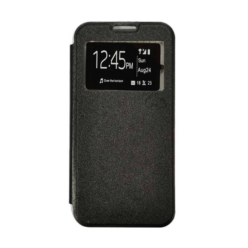 Smile Flip Cover Casing for Xiaomi Redmi 4/4S/4 Prime - Hitam