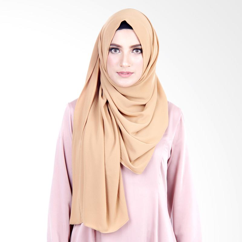 Cantik Kerudung Felicia Bubble Hijab - Cappucino