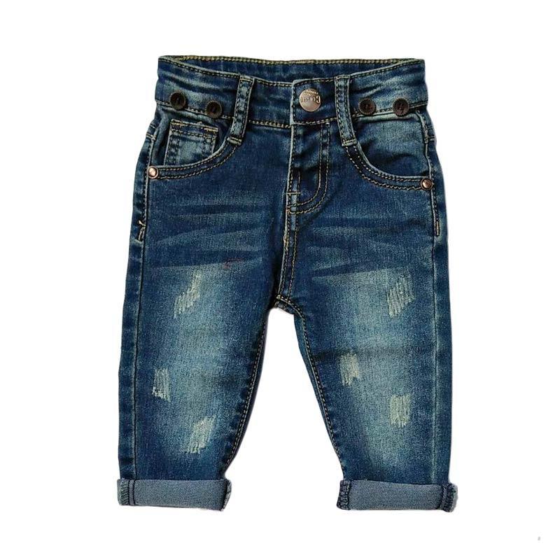 Chloebaby Shop F1051E Zig Zag Celana Ripped Jeans Anak