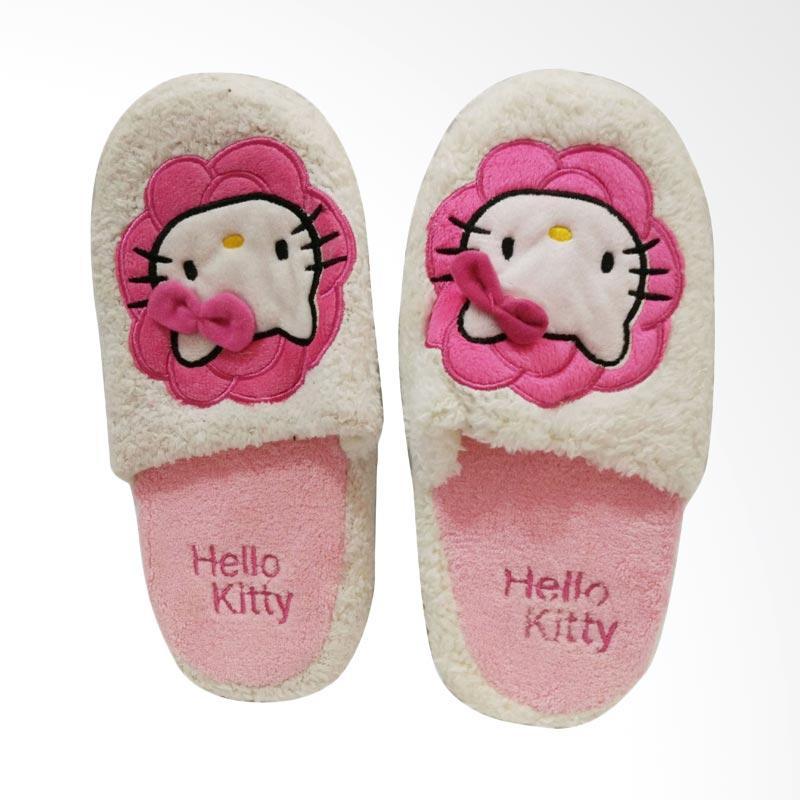 Hello Kitty HK Flower Sandal Rumah - White Pink