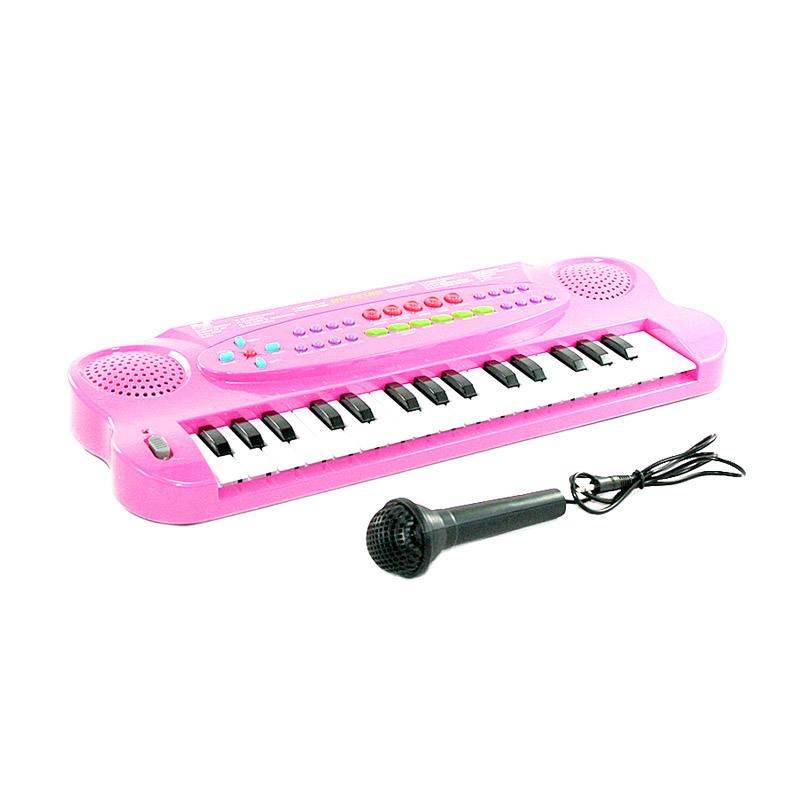 Jual OTOYS EV-322716 Piano Keyboard and Microphone Musical - Pink Online – Harga &