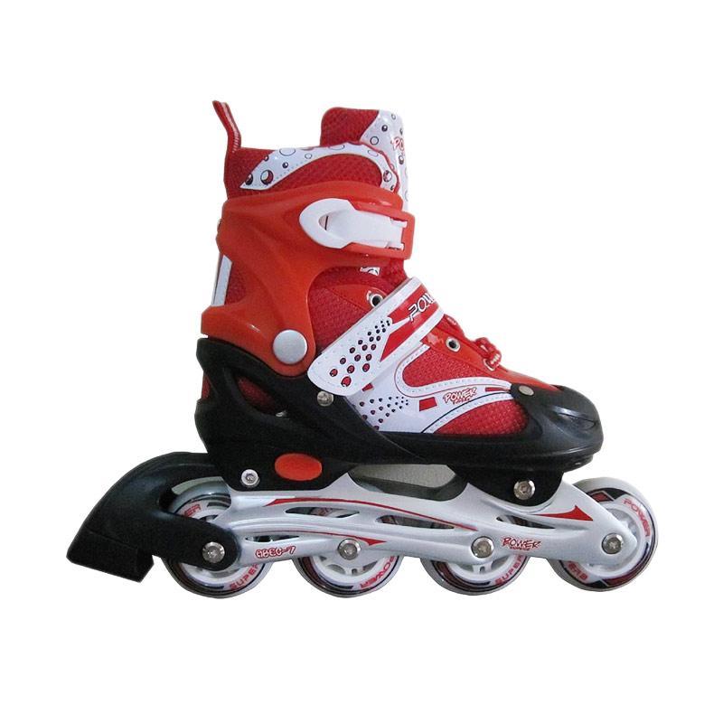 Jual sepatu roda inline skate power merah cek harga di PriceArea.com c2382a90c4