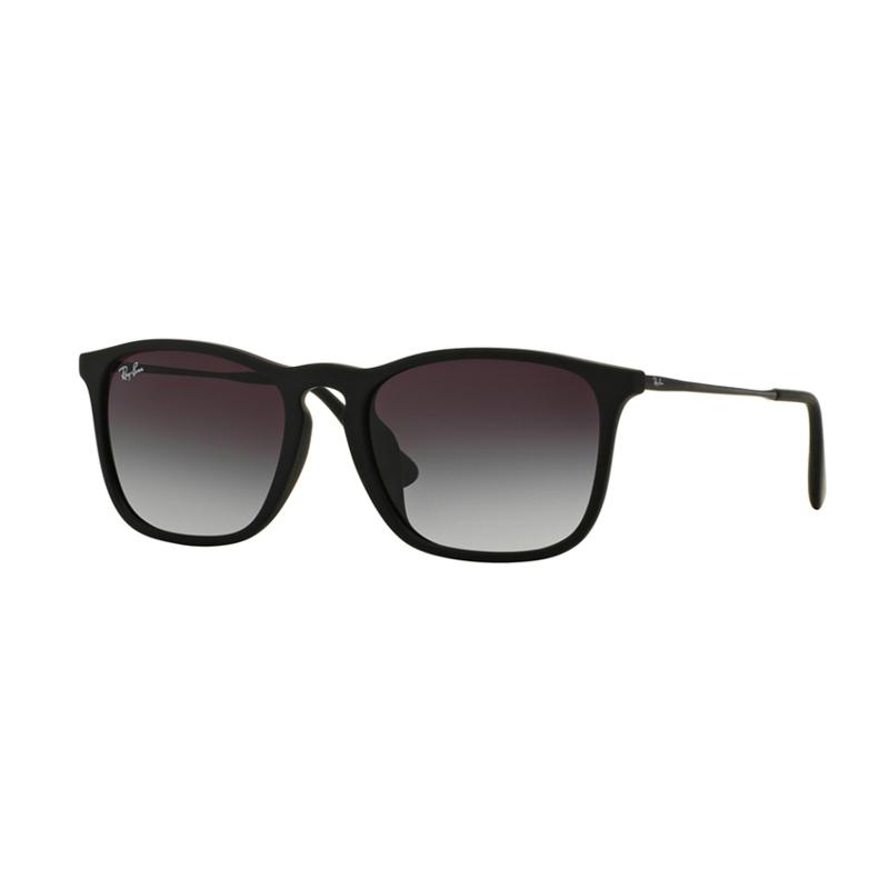 Ray-Ban 622-8G (F) RB4187F Chris Sunglasses - Nero Gommato [Size 54]