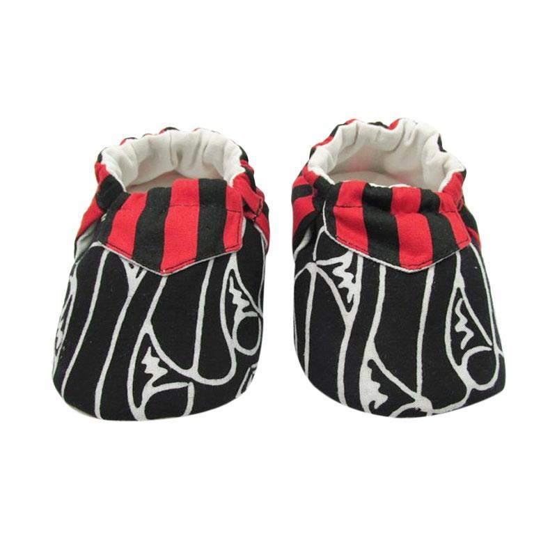 Sweet Batik Juno Shoes Ksf6-10 Sepatu Bayi - Black Red