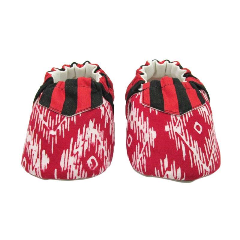 Sweet Batik Juno Shoes Ksf6-11 Sepatu Bayi - Red Black