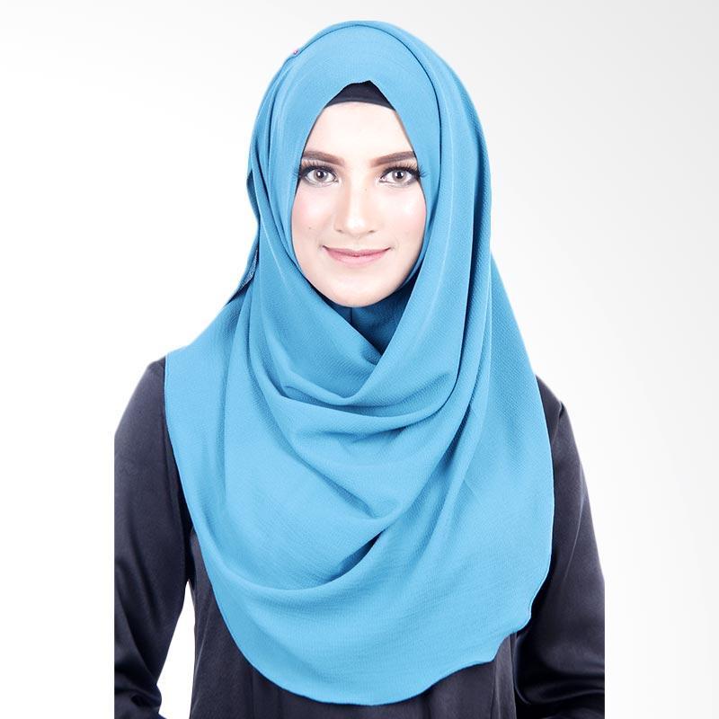 Cantik Kerudung Felicia Bubble Hijab - Tosca Blue