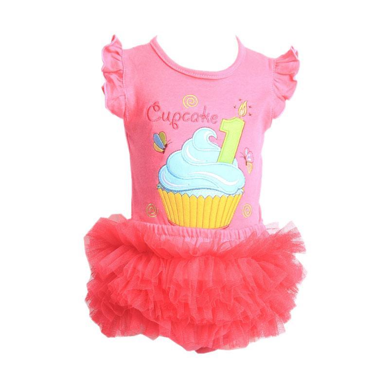 Chloe Babyshop F904 Cupcake Tutu Setelan Anak - Fuschia