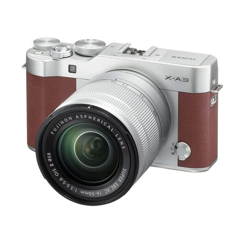 Fujifilm X-A3 Kit Lens 16-50mm Kamera Mirrorless - Brown
