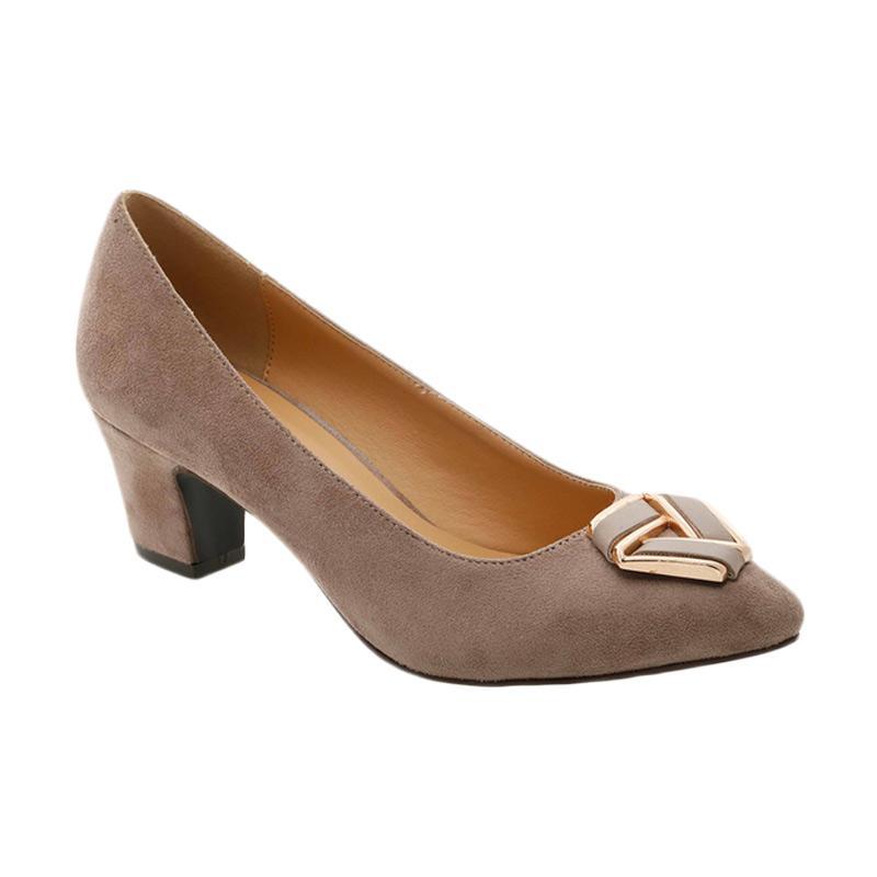 GatsuOne Gwenda 1 Heels Sepatu Wanita - Light Brown