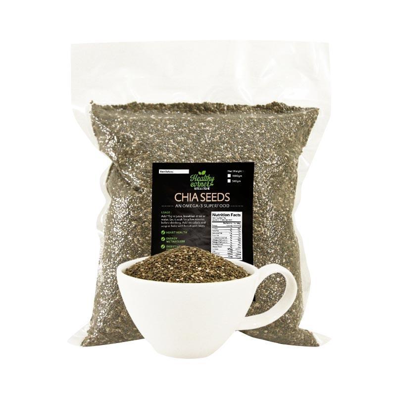 Healthy Corner Natural Chia Seed Hitam [500 g]