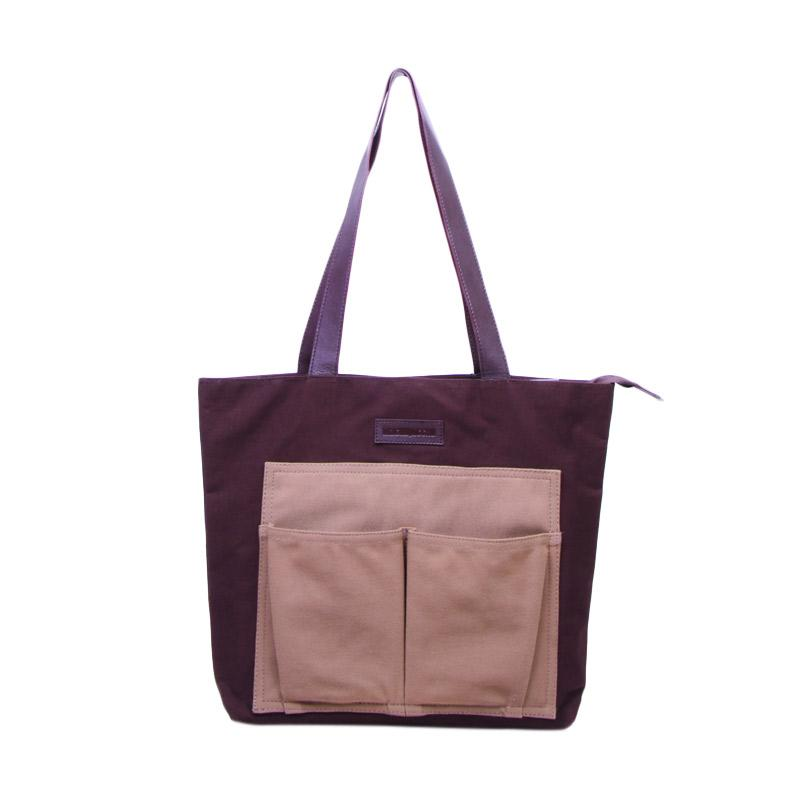 Machupicchu BTO13 Canvas Tote Bag Tas Wanita - Brown