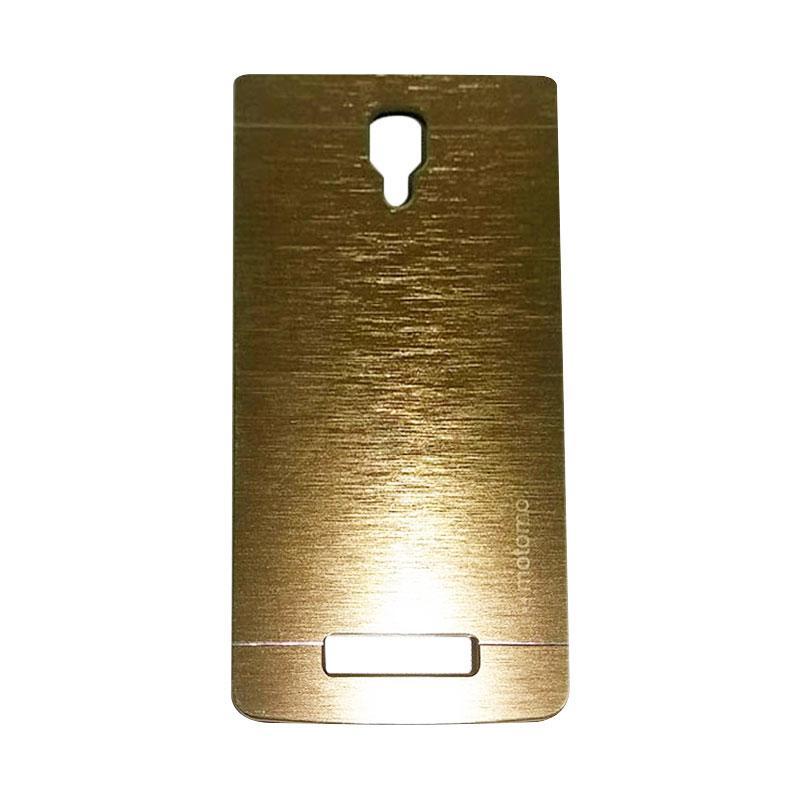 Motomo Metal Hardcase Backcase Casing for Lenovo A1000 - Gold