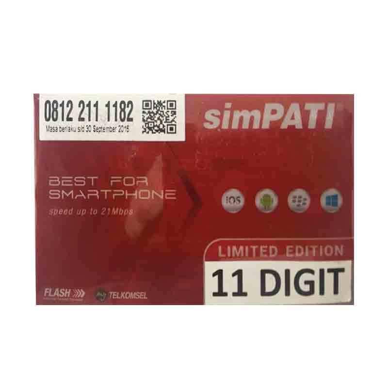 harga Telkomsel Simpati Nomor Cantik 081 22 1111 82 Kartu Perdana Blibli.com