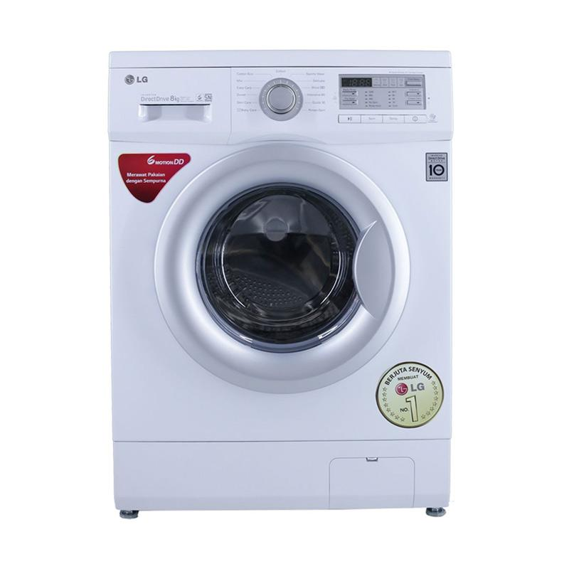 harga LG Mesin Cuci - Putih [Front Loading/ 8 kg/ 6 Motor/ Steam Washer] Blibli.com
