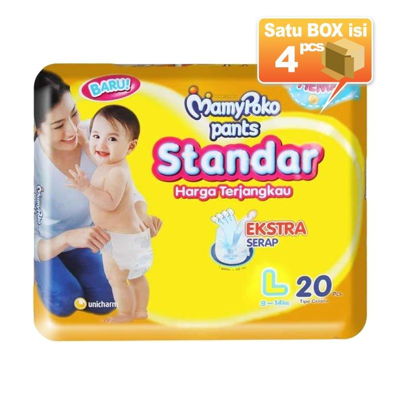 MamyPoko Pants Standar L20 Popok Bayi [4pcs-karton]
