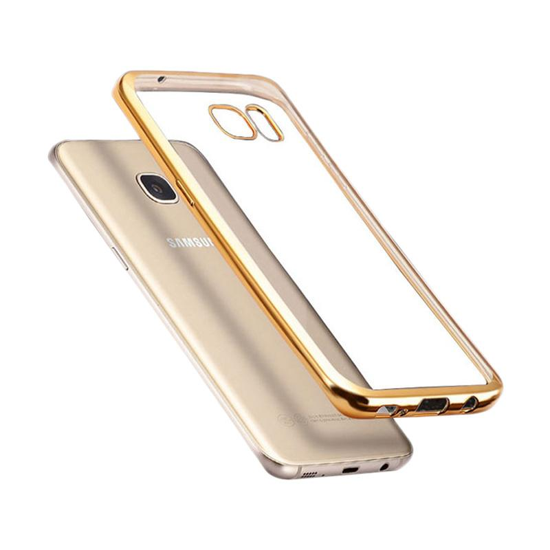 Likgus Tough Shield Casing for Samsung Galaxy A5 Plus - Gold