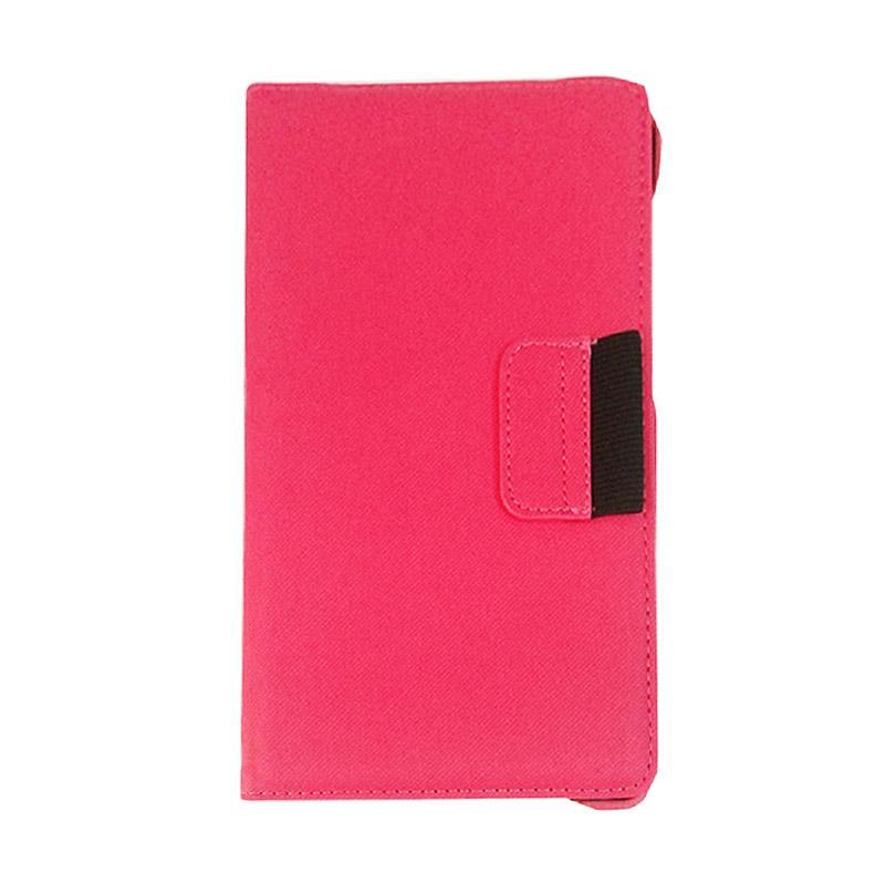 harga QCF Leather Flip Cover Casing for Asus Google Nexus 7 Inch [tahun 2103]- Pink Blibli.com