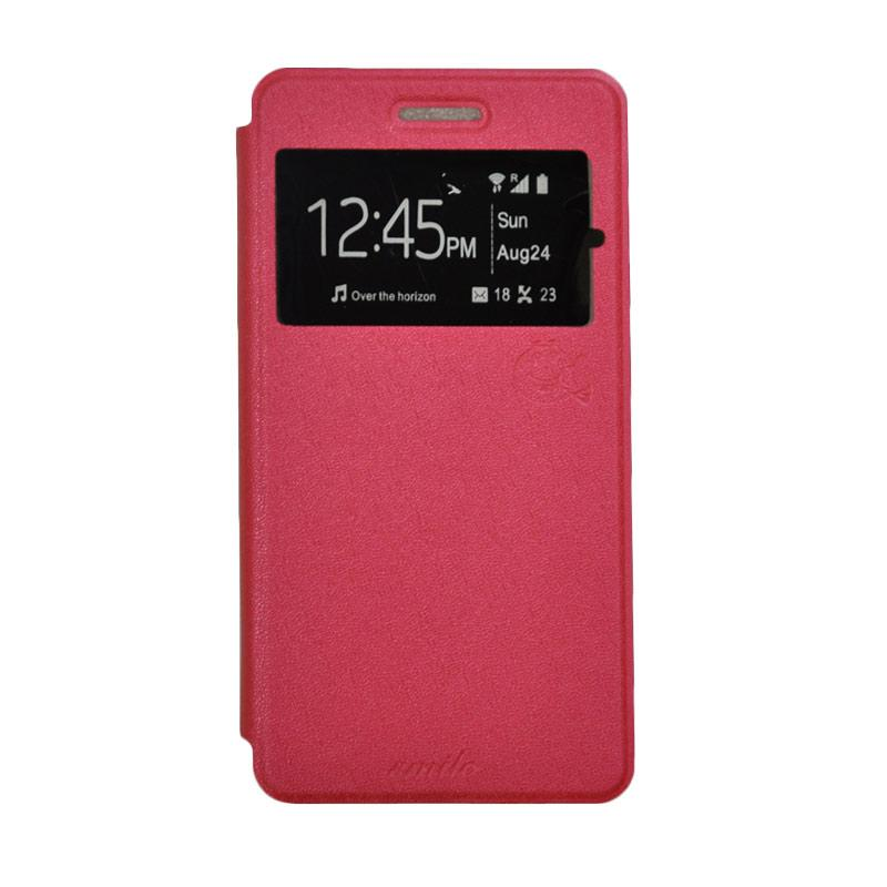 SMILE Standing Flip Cover Casing for Xiaomi Mi Max - Hot Pink