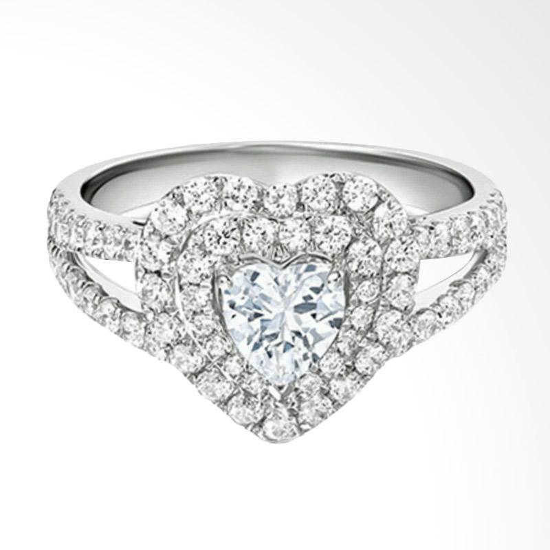 Tiaria Lavish Diamond Cincin Pertunangan Berlian Emas 18K