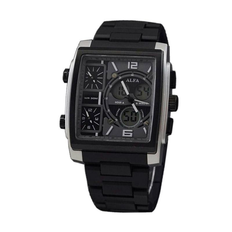 Alfa Fourtime D46H178AL04WKTHTMLS Jam Tangan Pria - Black Silver