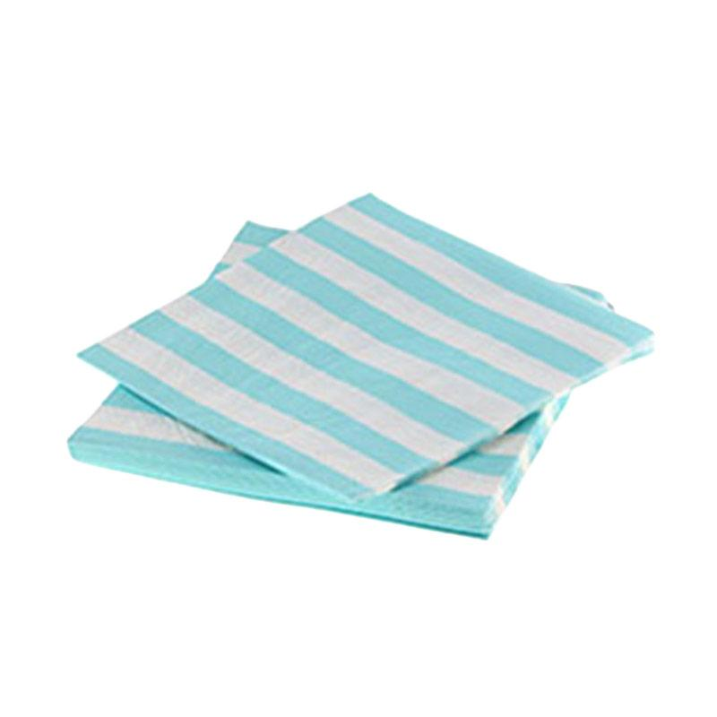 harga Grins And Giggles Stripe Party Napkin - Blue Blibli.com