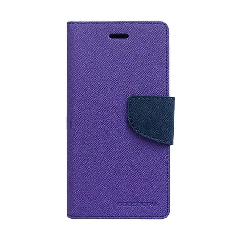 Mercury Fancy Diary Casing for iPhone 7 Plus - Ungu Biru Laut