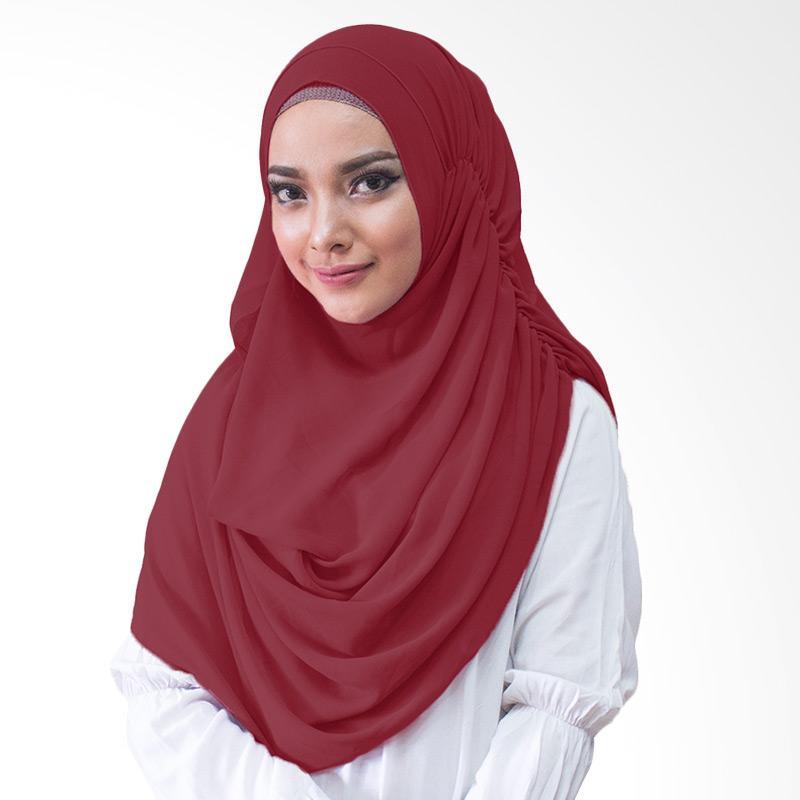 Milyarda Hijab Nurmala Kerudung Instan - Maroon
