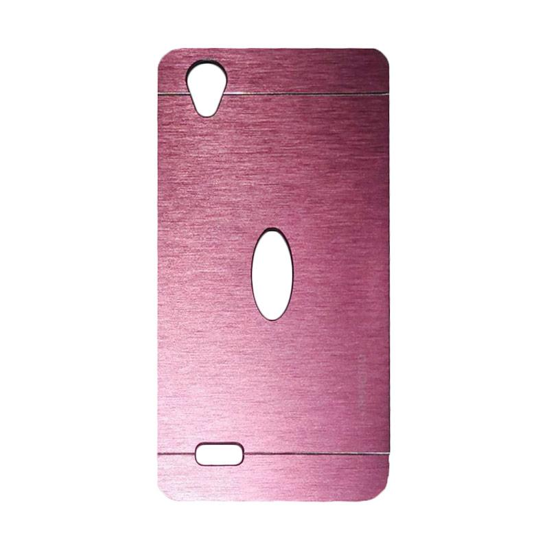 Motomo Metal Hardcase Backcase Casing for Vivo Y31 - Pink