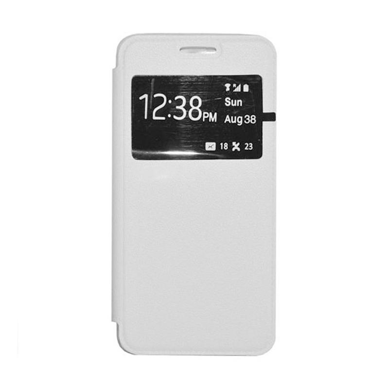 OEM Leather Book Cover Casing for Xiaomi Redmi Note 2 - White