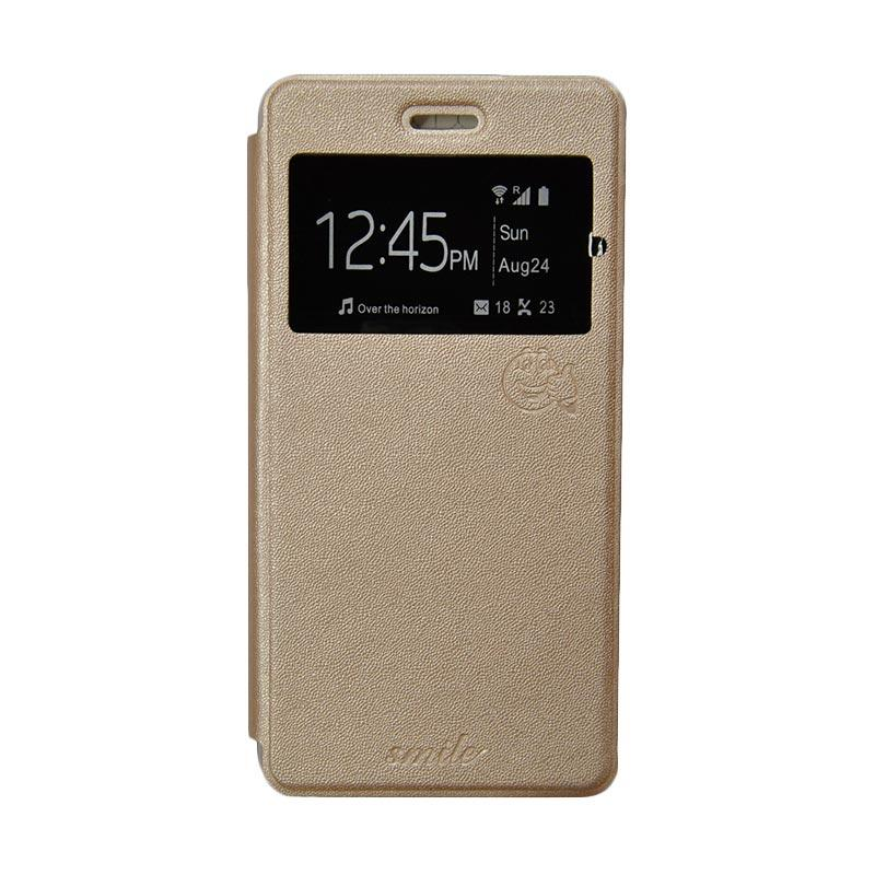Smile Flip Cover Casing for Asus Zenpad C 7 Inch-ZE170CG - Gold