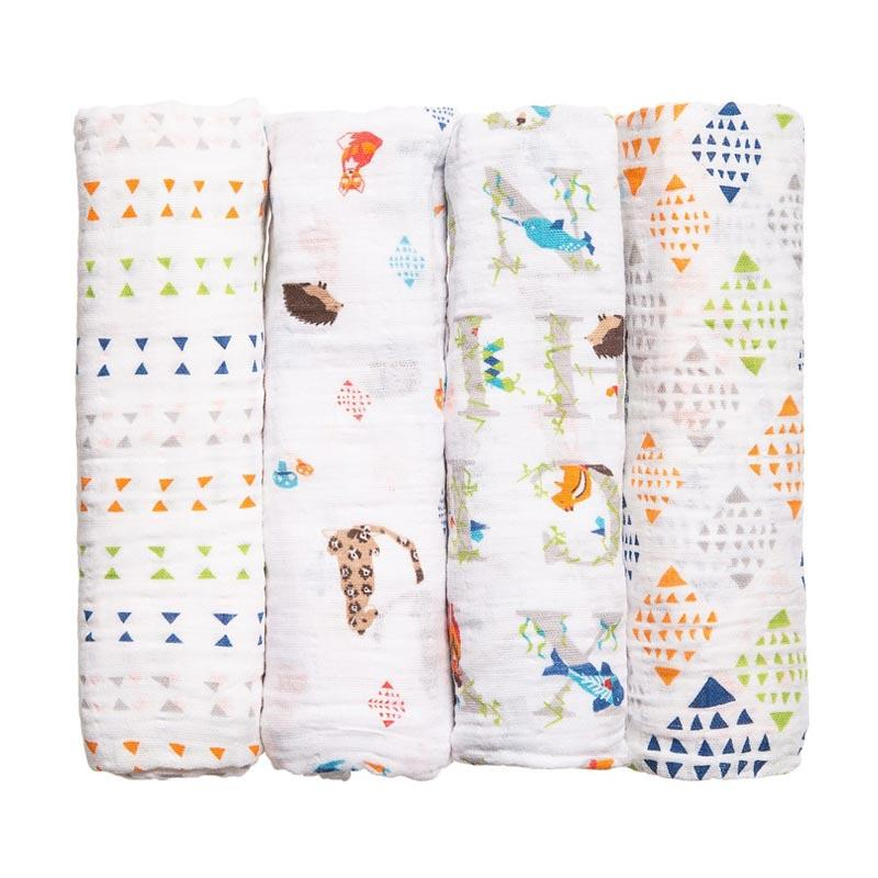 Aden+anais - 4-pack Classic Swaddles - Paper Tales - Kain Bedong Bayi dan Anak