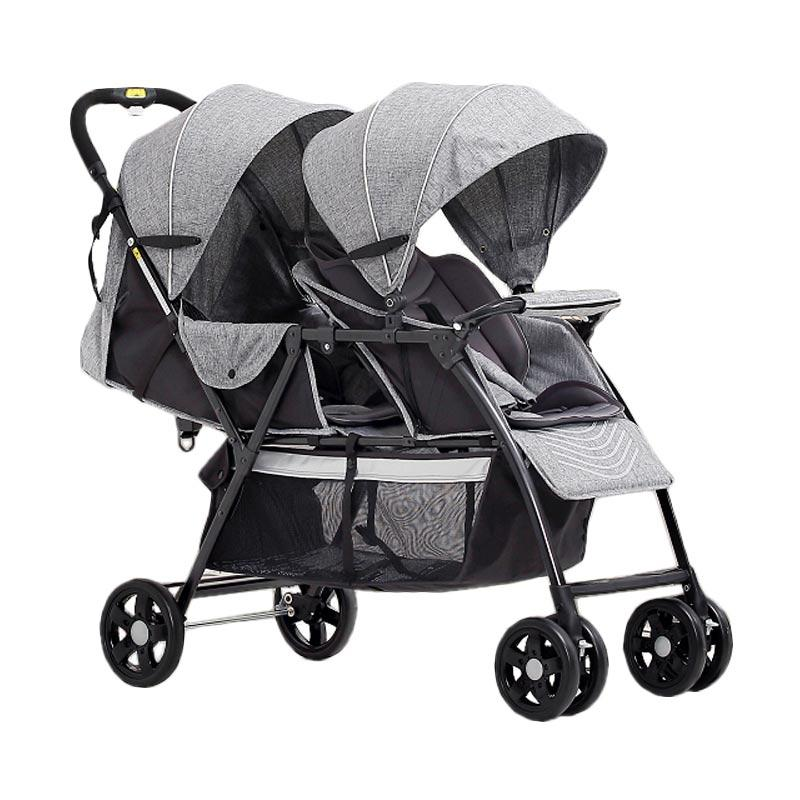 Baby's Only T2 Double Twin Tandem Stroller - Grey