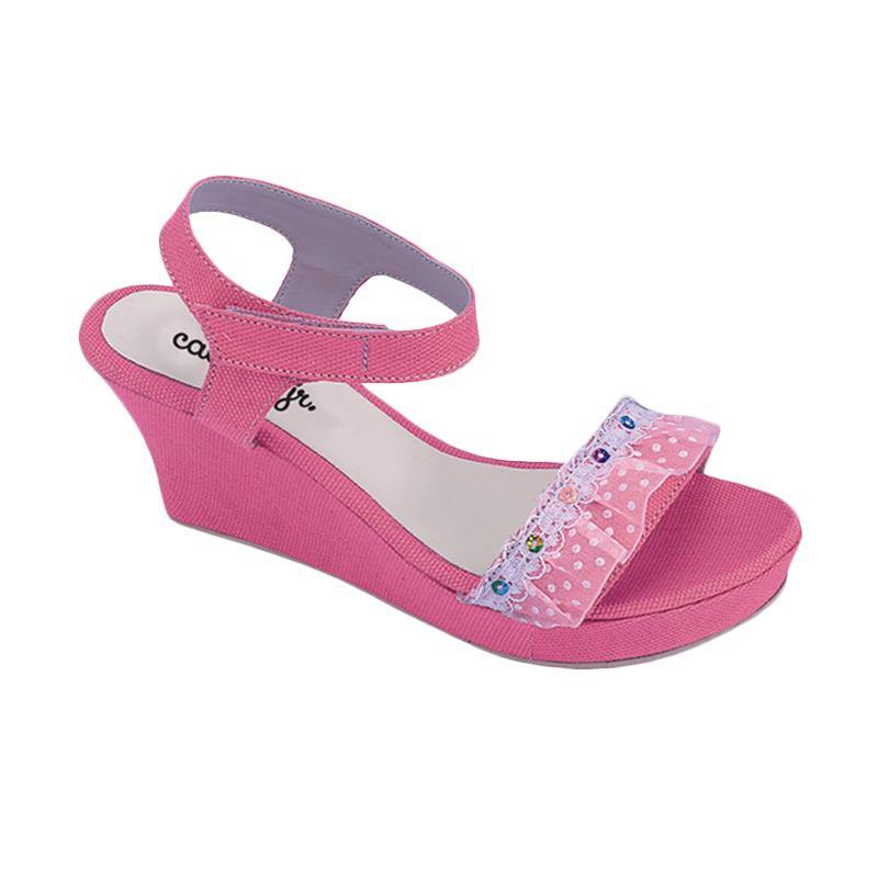 harga Catenzo Junior Luisa CNR 006 Sandal Wedges Anak - Pink Blibli.com