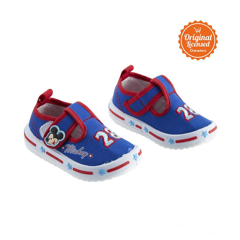 harga Disney Mickey Canvas Toddler Shoes Sepatu Anak - Biru Blibli.com