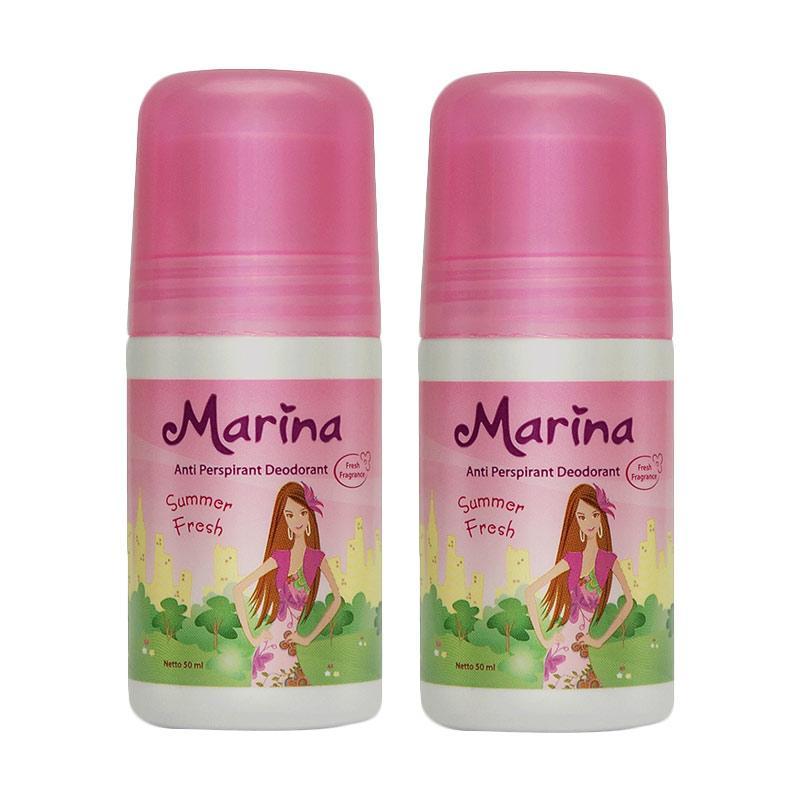 Marina Anti Pespirant Deodorant Summer Fresh [50 mL/ 2 pcs]