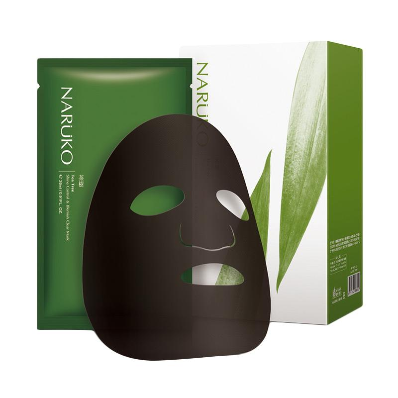 Naruko Tea Tree Shine Control Blemish Clear Mask isi 8 pcs box