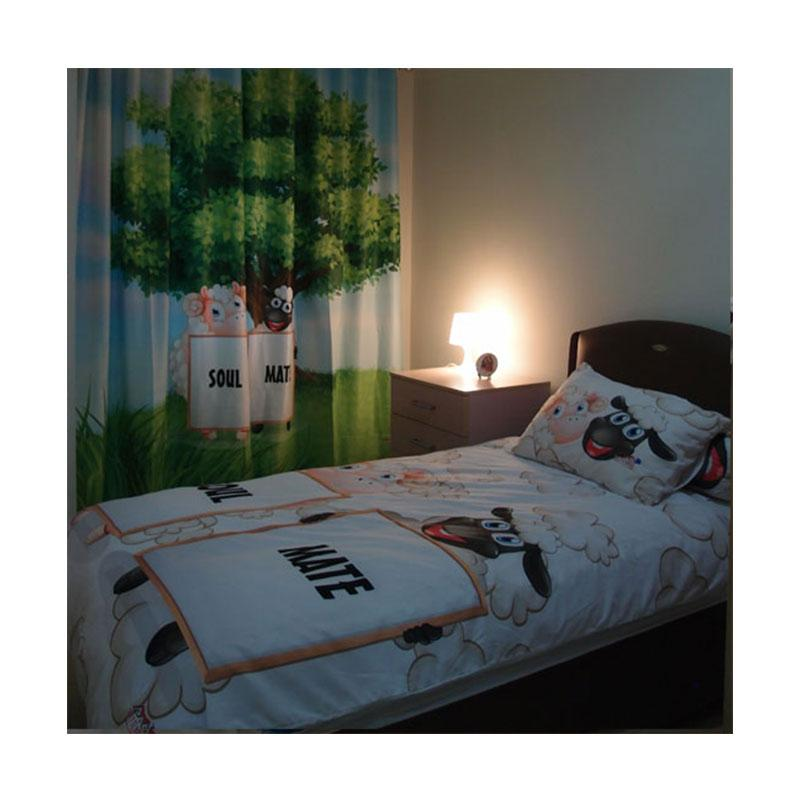 Odette Themehome Fren Sheep Quilt Bed Cover