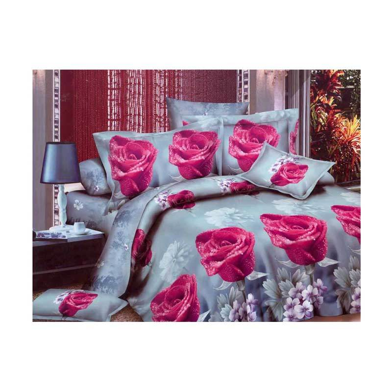 Rosewell Microtex Disperse Set Sprei - Red Rose