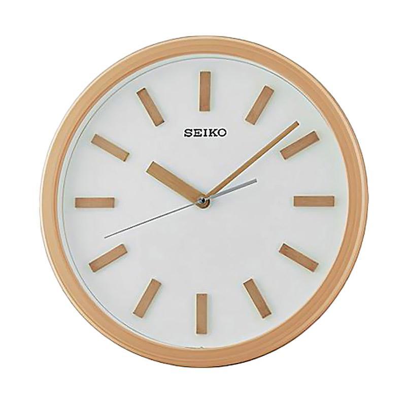 SEIKO QXA681Z Quiet Sweep Wall Clock Jam Dinding - Cream [35 cm]
