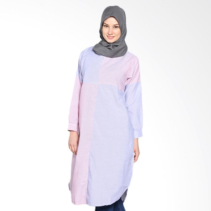 Chick Shop CO-72-03-BPi Cross Leaf Tunic Moslem - Blue Pink