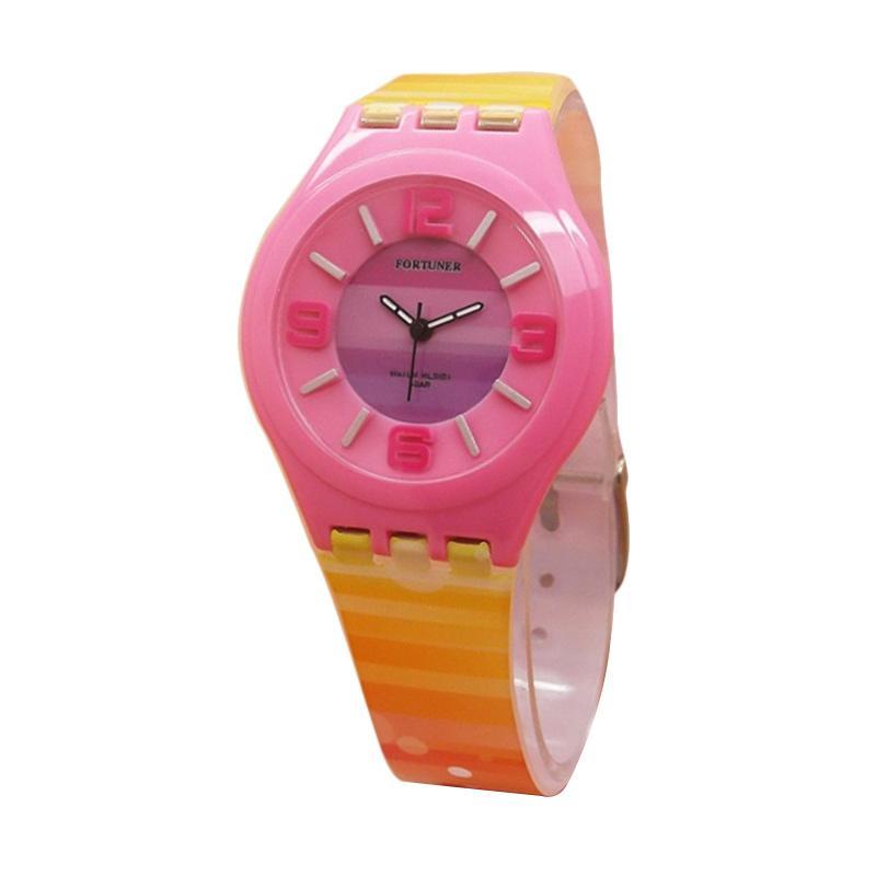 Fortuner FR JA-878 Jam Tangan Anak - Pink Yellow