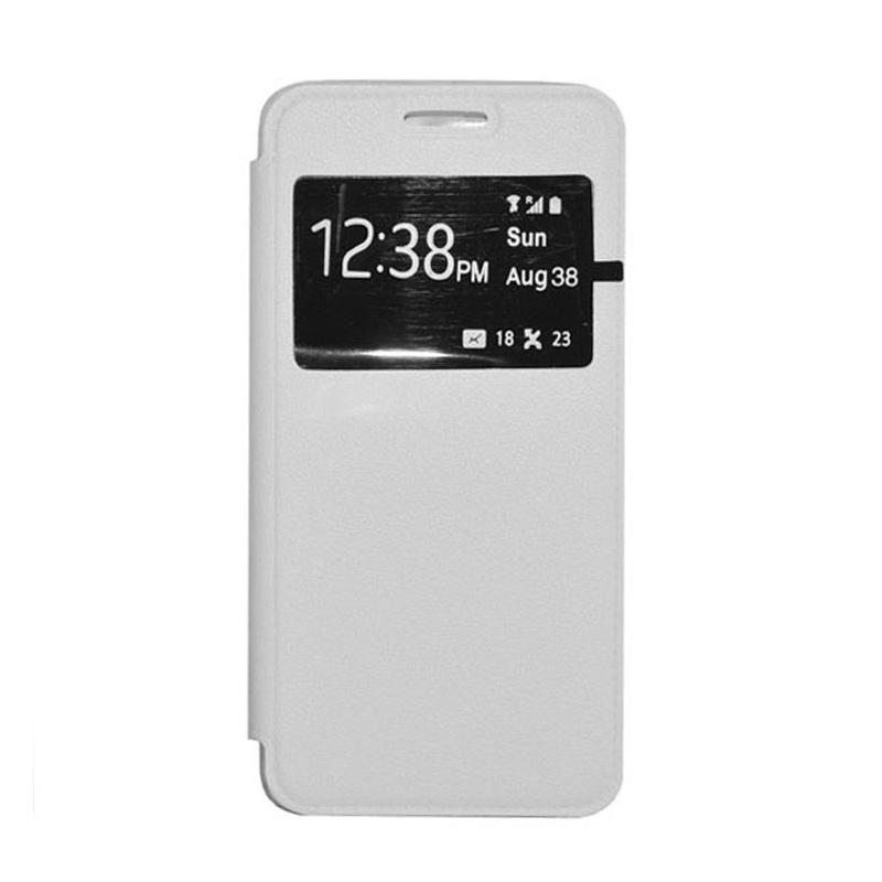 OEM Leather Book Cover Casing for Samsung Galaxy S5 - White